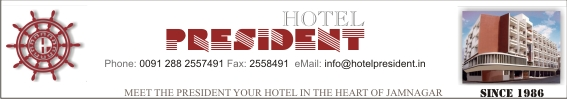 visit the website of Hotel President, Jamnagar
